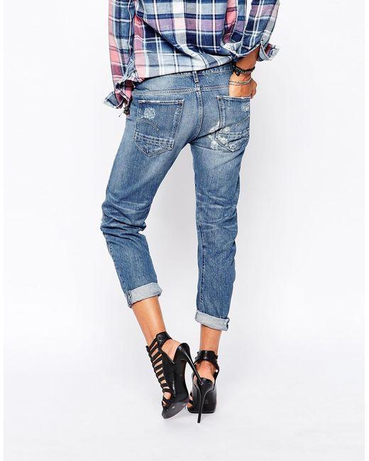 g star raw arc 3d kate boyfriend jeans in blue. Black Bedroom Furniture Sets. Home Design Ideas