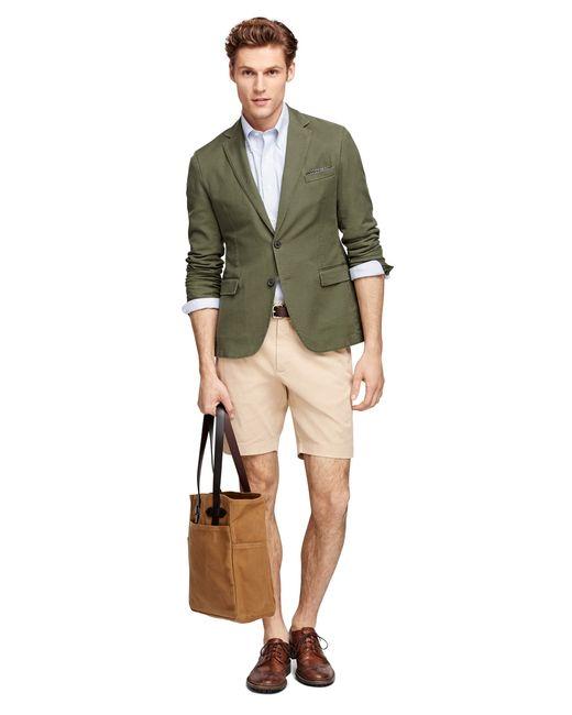 Brooks Brothers | Green Cotton Sport Coat | Lyst
