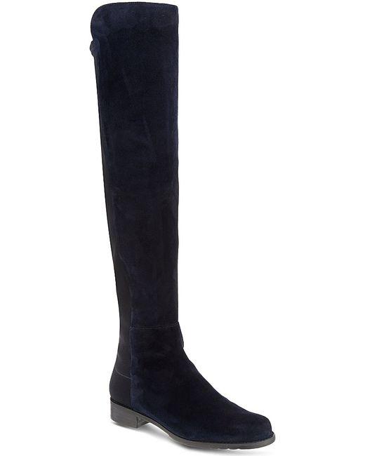 stuart weitzman 50 50 knee high suede boots in blue lyst
