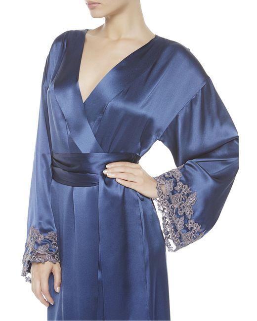 la perla maison robe in blue blue lyst