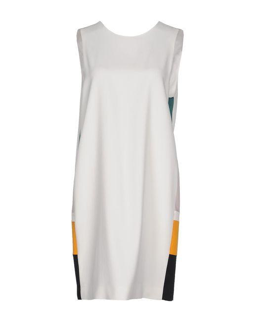MSGM | White Short Dress | Lyst