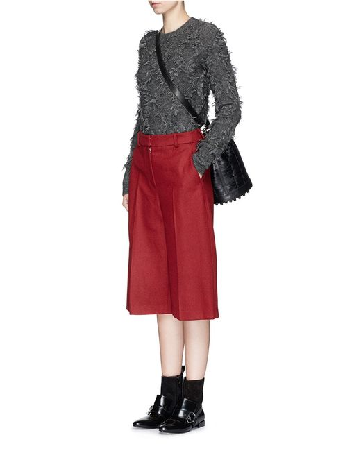 3.1 Phillip Lim | Gray Long-sleeve Fringe Pullover Sweater | Lyst