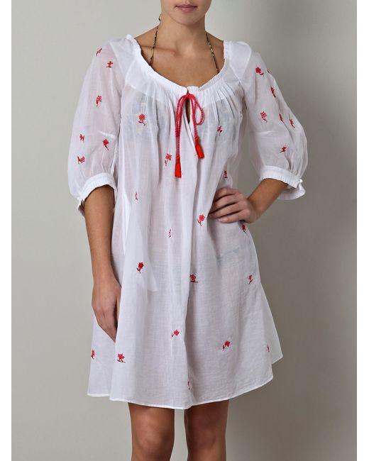 Thierry Colson   White Eva Floral Cotton Dress   Lyst
