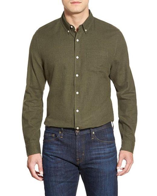 AG Jeans | Green 'nimbus' Trim Fit Sport Shirt for Men | Lyst