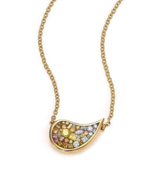 Plevé | Metallic Scorpio Sunburst Ombre Diamond & 18k Yellow Gold Small Pendant Necklace | Lyst