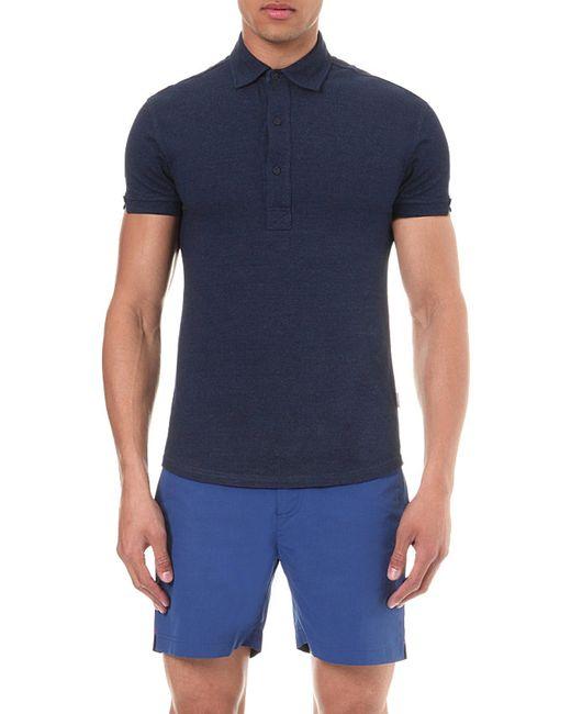 Orlebar Brown | Blue Sebastian Cotton-piqué Polo Shirt - For Men for Men | Lyst