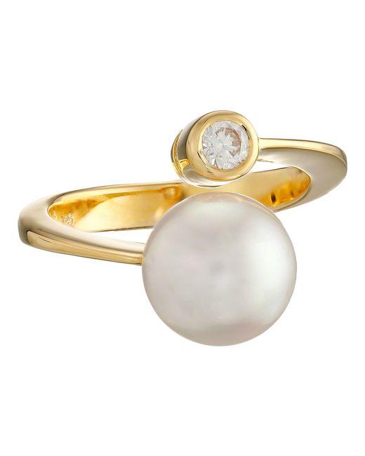 Majorica   Metallic 10mm Pearl & Cz Wrap Ring   Lyst