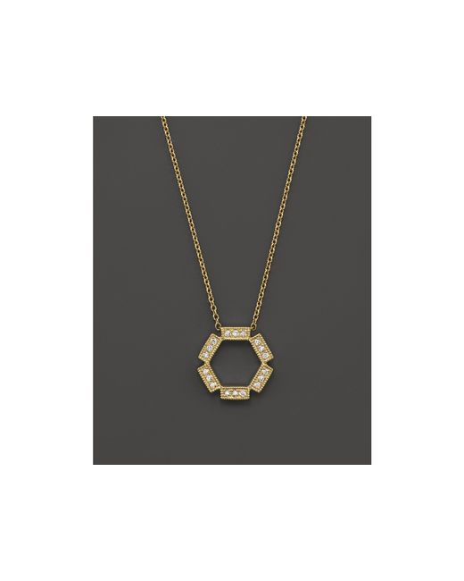 Dana Rebecca | Metallic Diamond & 14k Yellow Gold Hexagon Necklace, 16"