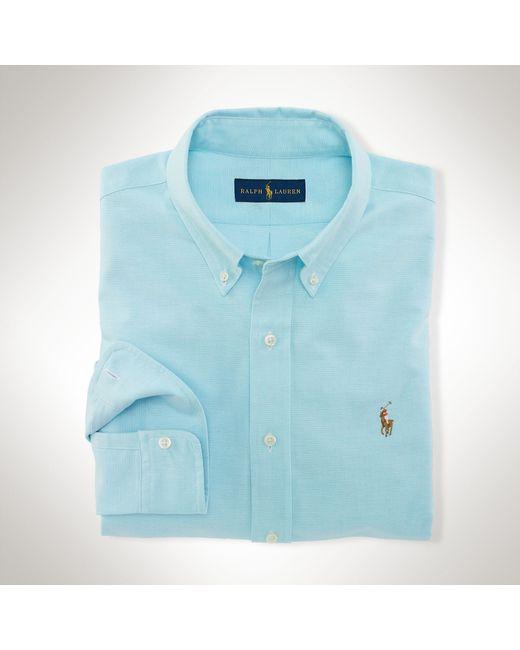Polo Ralph Lauren   Blue Slim-fit Stretch Oxford Shirt for Men   Lyst