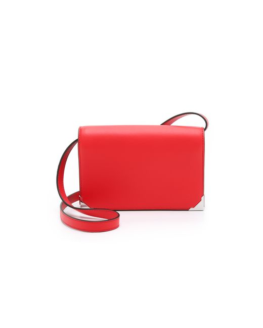 Alexander Wang | Red Prisma Leather Double Biker Clutch Bag | Lyst