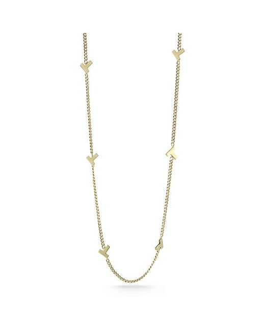 "Tiffany & Co. | Metallic T Smile 16-18"" 18-karat Gold Necklace 
