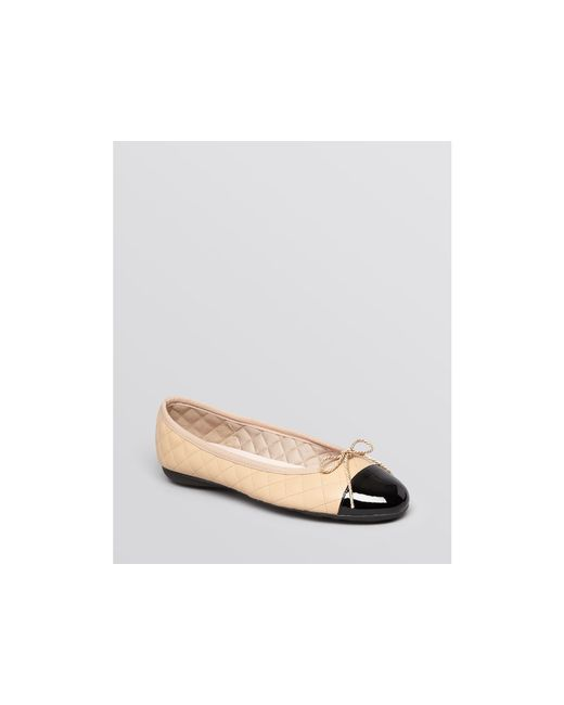 Paul Mayer Best Quilted Ballet Flats In Black Lyst