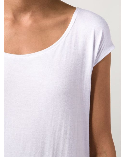 fadeless scoop neck t shirt in white lyst