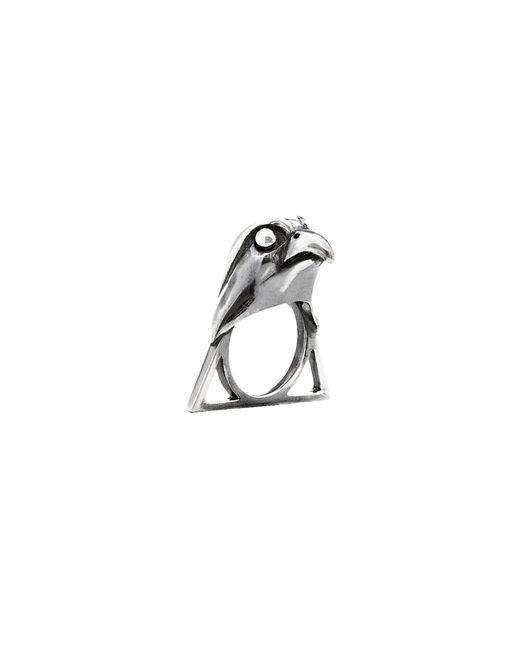 Glenda López | Metallic The Falcon Triangle Ring | Lyst