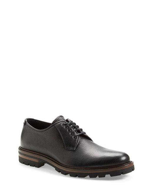 Aquatalia | Black 'james' Weatherproof Plain Toe Derby for Men | Lyst