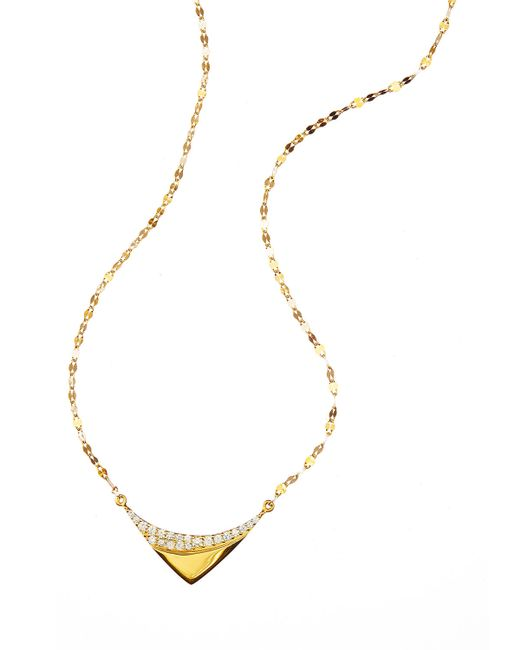 Lana Jewelry | Metallic 14k Electric Reflector Diamond Necklace | Lyst