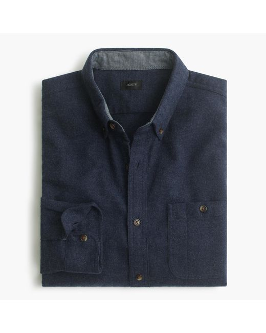 J.Crew | Blue Cotton-wool Elbow-patch Shirt In Solid for Men | Lyst