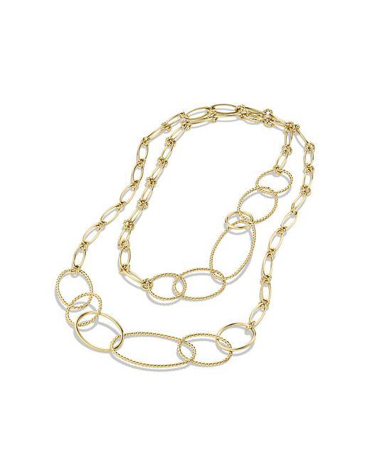 David Yurman | Metallic Mobile Link Necklace In 18k Gold | Lyst