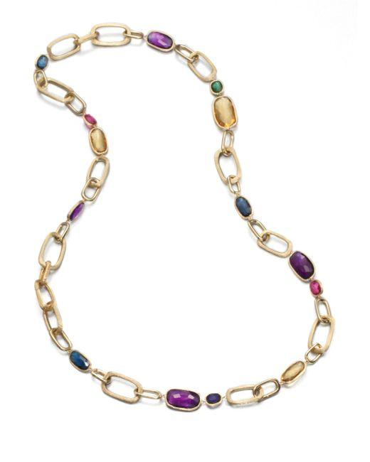 Marco Bicego   Multicolor Murano Semi-precious Multi-stone & 18k Yellow Gold Long Link Necklace   Lyst