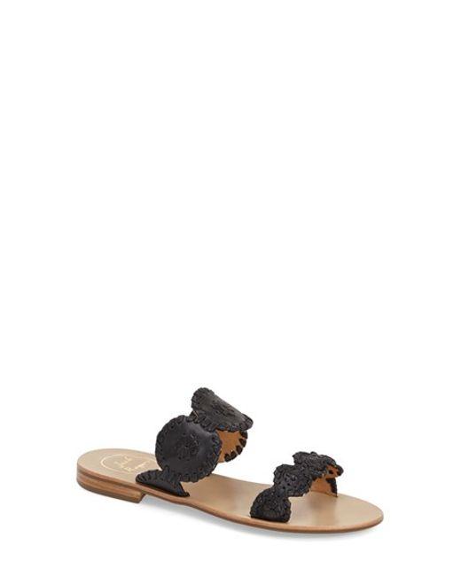 Jack Rogers | Black Lauren Double-strap Sandal | Lyst