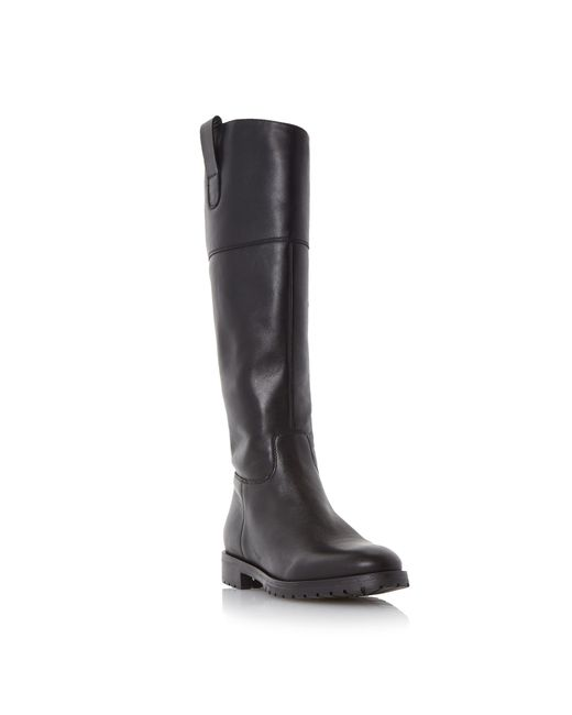 Dune | Black Timi Side Tab Leather Riding Boots | Lyst