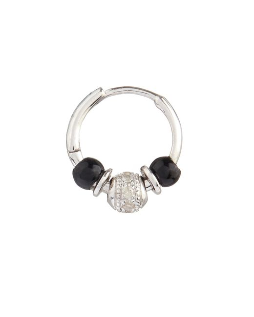 Elise Dray | Metallic Diamond, Onyx & White-Gold Mini Rock Earring | Lyst