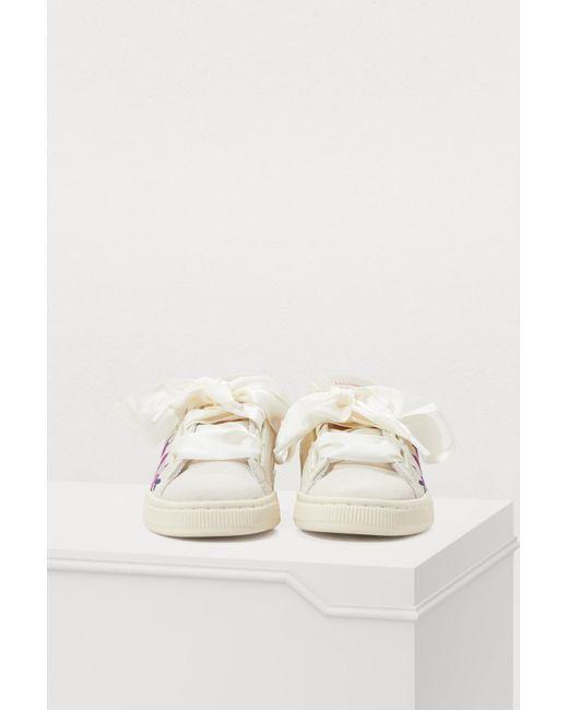 fa15624a367f ... PUMA - White Heart Flower Sneakers - Lyst ...