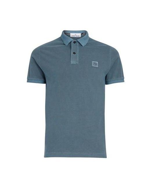 Polo à logo Stone Island pour homme en coloris Blue