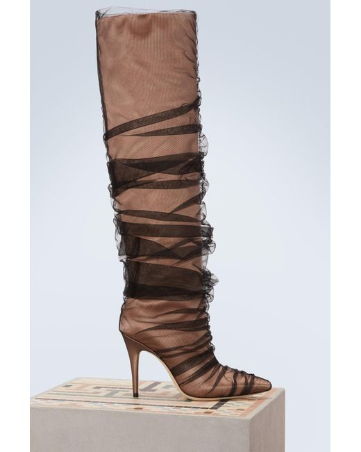 Jimmy Choo - Brown X Off-white Elisabeth 100 Boots - Lyst