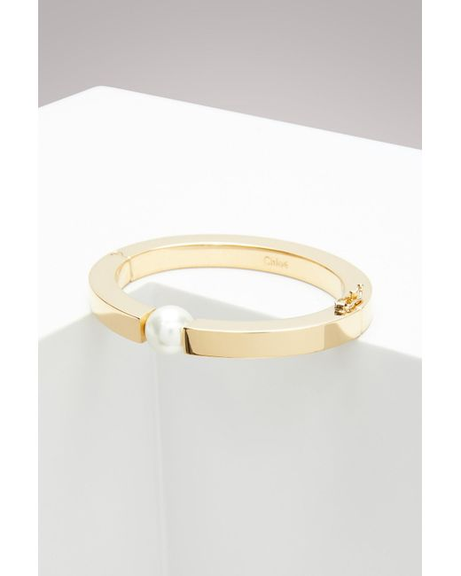 Chloé - Metallic Pearl Darcey Bracelet - Lyst
