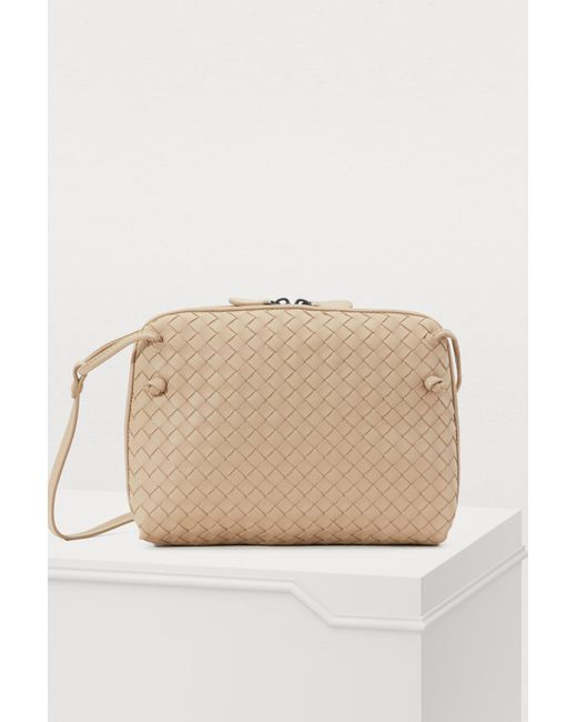 8197b542af Bottega Veneta - Natural Nodini Crossbody Bag - Lyst ...