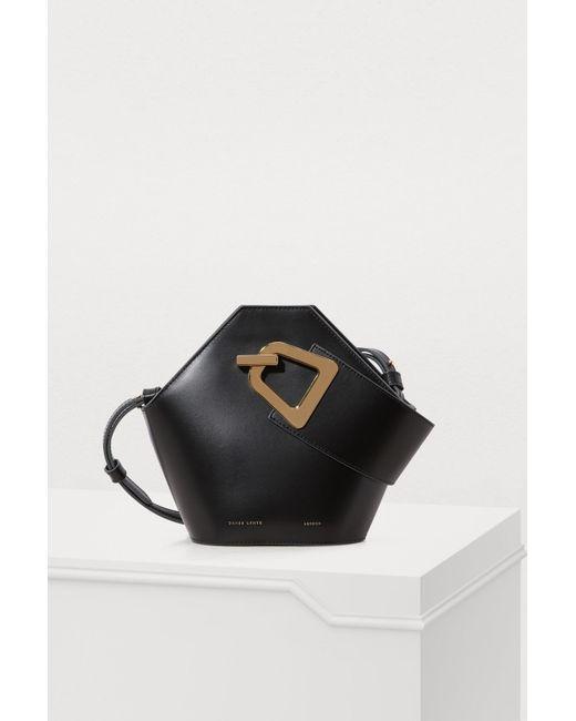 76e7ce0c1b6e Danse Lente Mini Johnny Bucket Bag In Black Leather in Black - Lyst