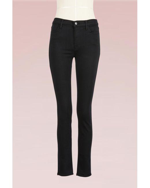 J Brand - Black Maria Skinny High Rise Pants - Lyst