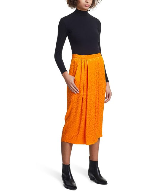 Jupe midi Roseanna en coloris Orange