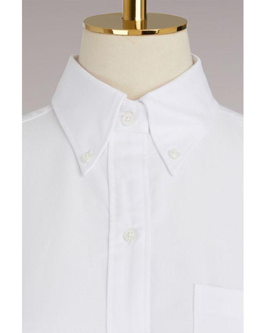 Thom Browne | White Cotton Oxford Shirt | Lyst