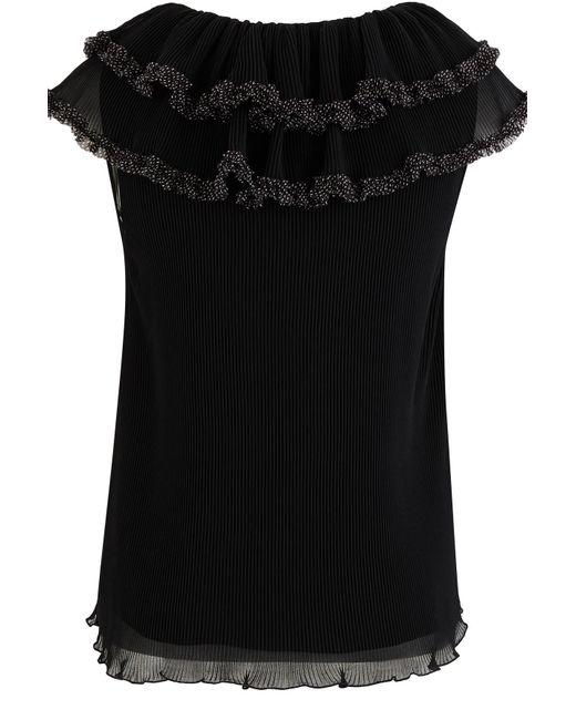See By Chloé Black Plissee-Bluse