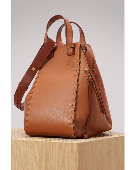 Loewe | Brown Hammock Laced Handbag | Lyst