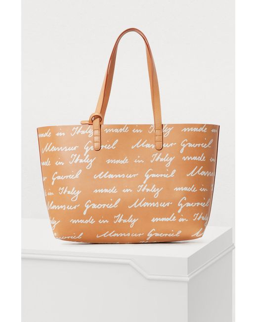 Mansur Gavriel - Brown Vegetable-tanned Leather Tote - Lyst