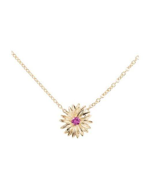 Collier Bouquet rhodolite Aurelie Bidermann en coloris Pink