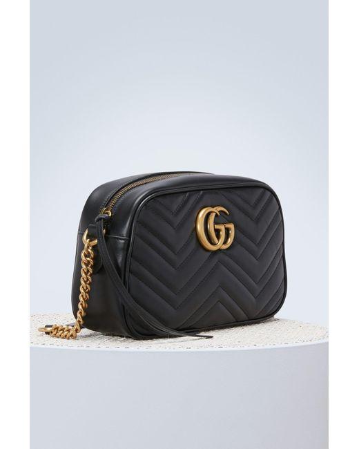 faefe5cf6 Gucci GG Marmont Shoulder Bag in Black - Save 46% - Lyst