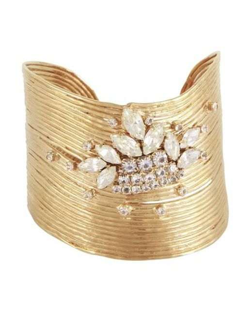 Bracelet Wave or strass Gas Bijoux en coloris Metallic