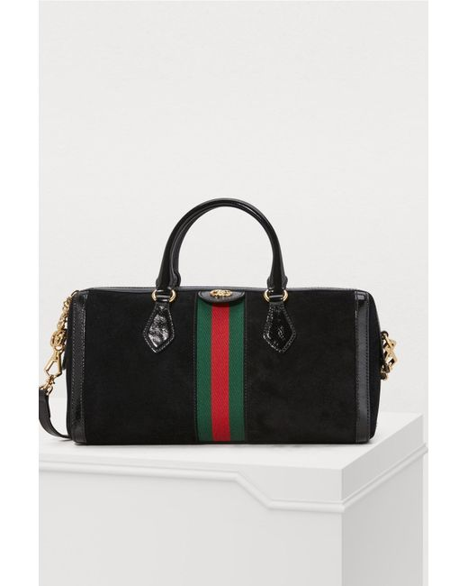 b683e9dcf Gucci Ophidia Boston Suede Bag in Black - Save 13% - Lyst