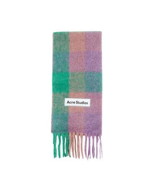 Acne Green Multicolor Scarf