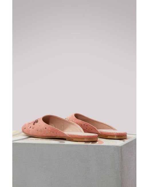 RED Valentino Dragonfly embroidered mules DrQaDGk4WO
