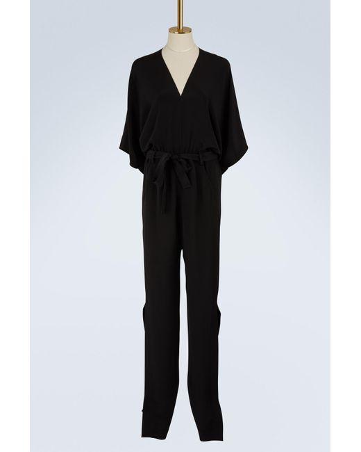 Roland Mouret   Black Millbridge Silk Crêpe Jumpsuit   Lyst