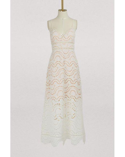 Zimmermann - White Jaya Maxi Dress - Lyst