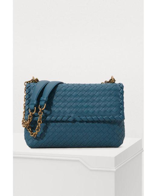 d7b4d3baaacd Bottega Veneta - Blue Olympia Medium Crossbody Bag - Lyst ...