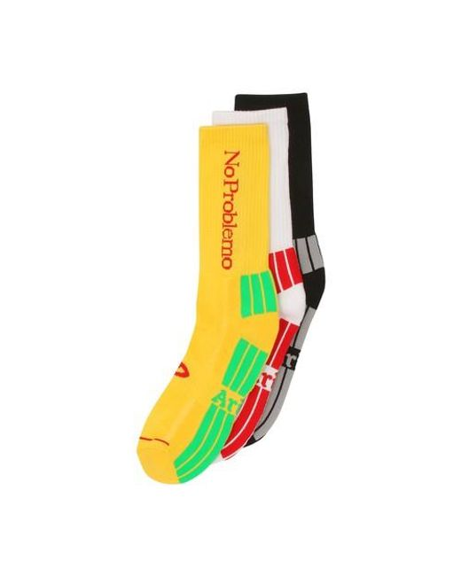 Aries Multicolor No Problemo Socks X3 for men