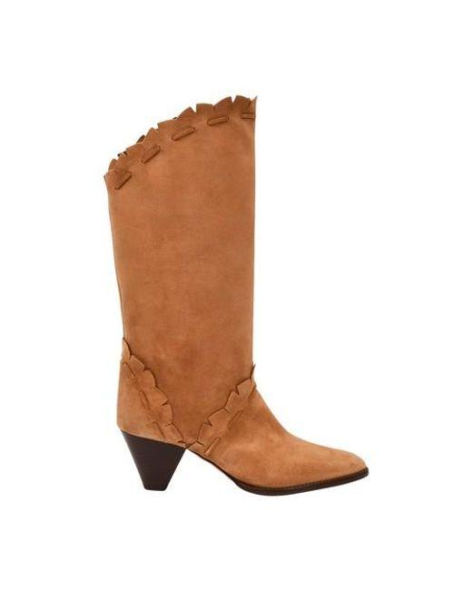 Isabel Marant Blue Leesta Heeled Boots