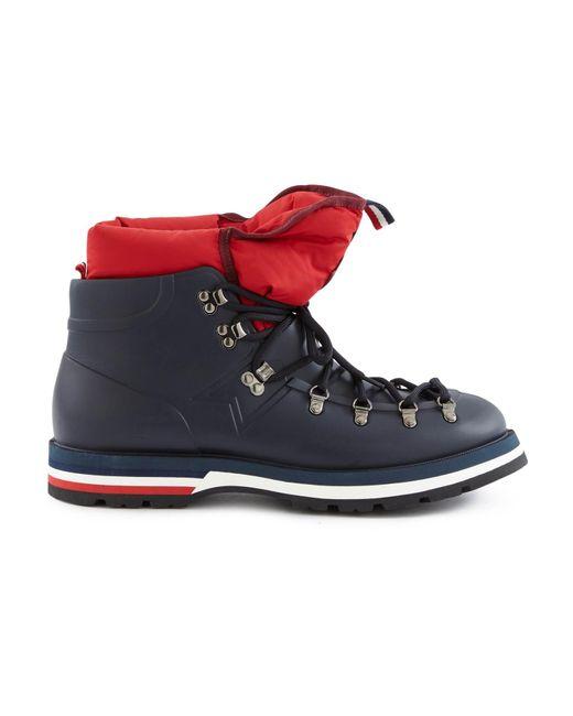 Moncler Blue Henoc Gum Shoes for men